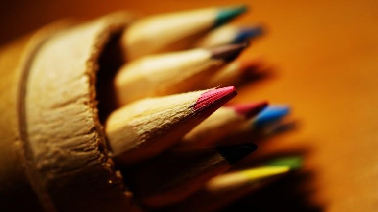 Close Up Color Pencils