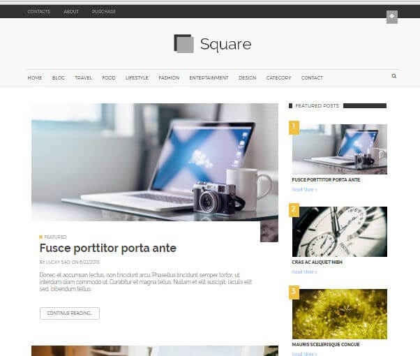 square free blogger template