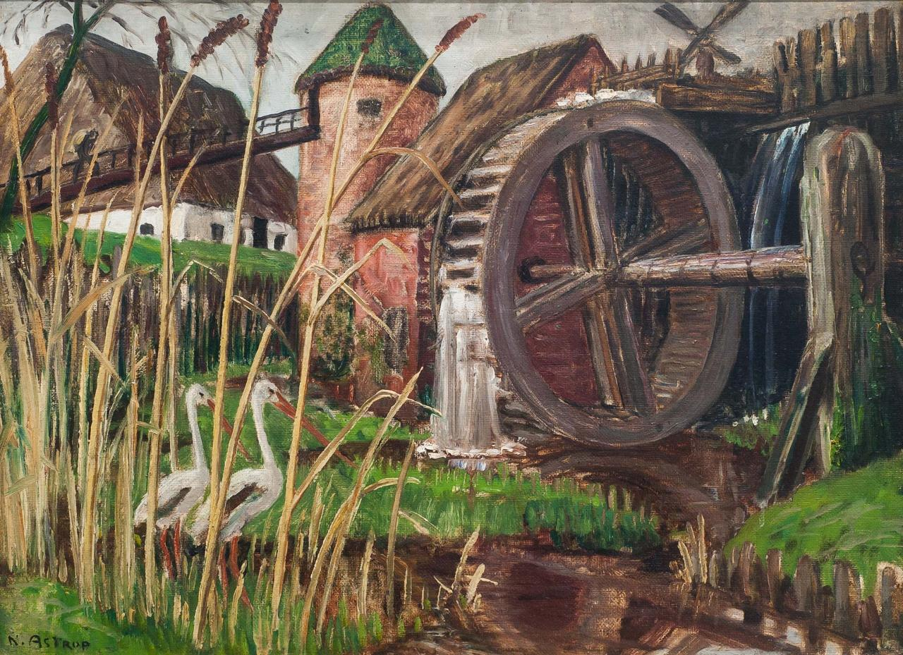 'Motif from a Danish Farm.' Image: Courtesy of Nikolai-Astrup.no. Unauthorized use is prohibited.