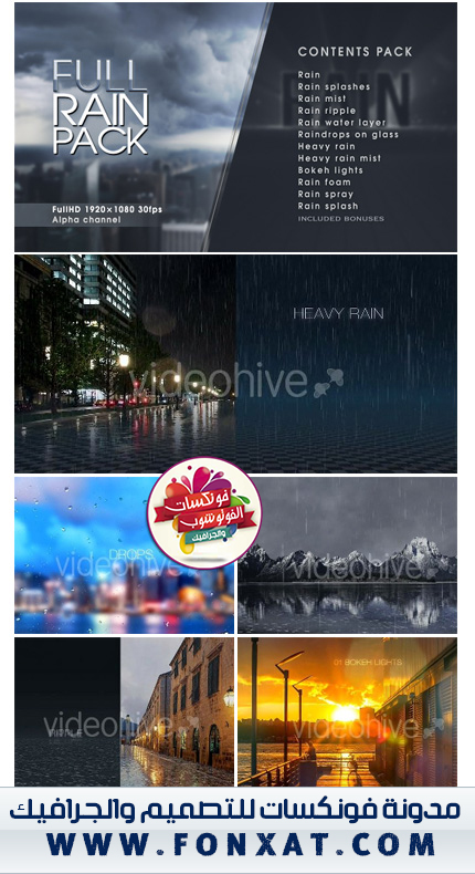 Download Rainy Video Effects Collection from Hayo Video