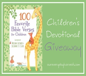 Kid's Devotional Giveaway
