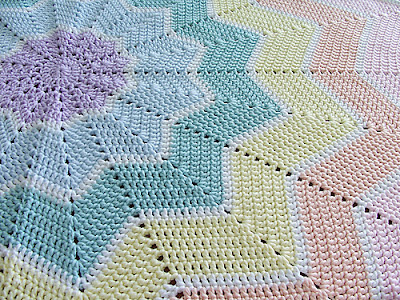 http://www.ravelry.com/patterns/library/rainbow-ripple-baby-blanket