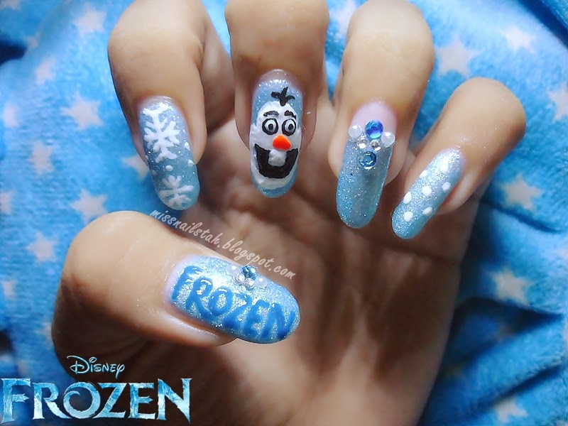 CC's NAILS : Olaf Nail Art Inspired By Disney Frozen
