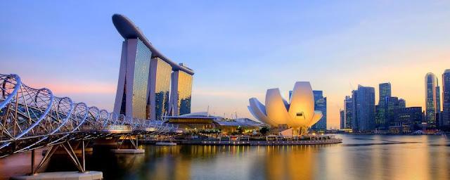 Vista de la zona de Marina Bay Sands