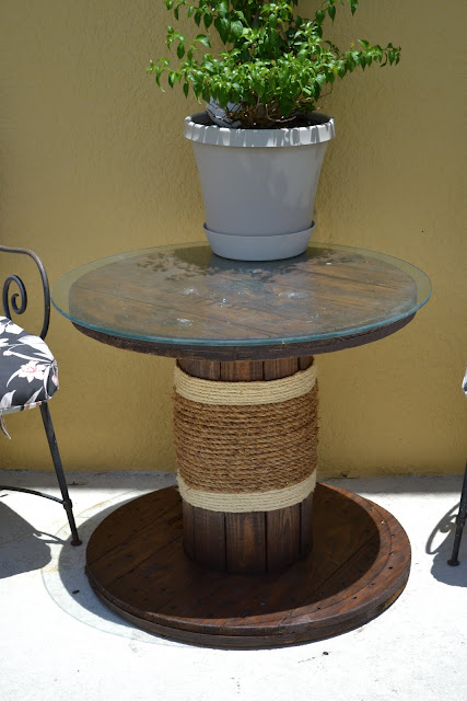 spool table, ballard designs