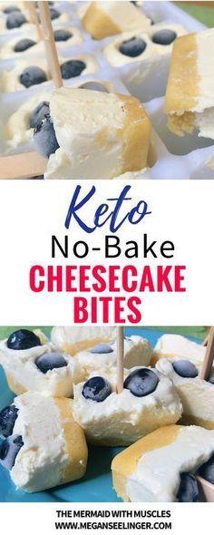 EASY NO-BAKE KETO CHEESECAKE BITES