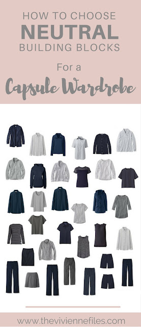 How to Choose Navy and Grey Neutral Building Blocks for a Capsule Wardrobe