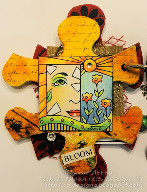 Altered Puzzle Piece Book