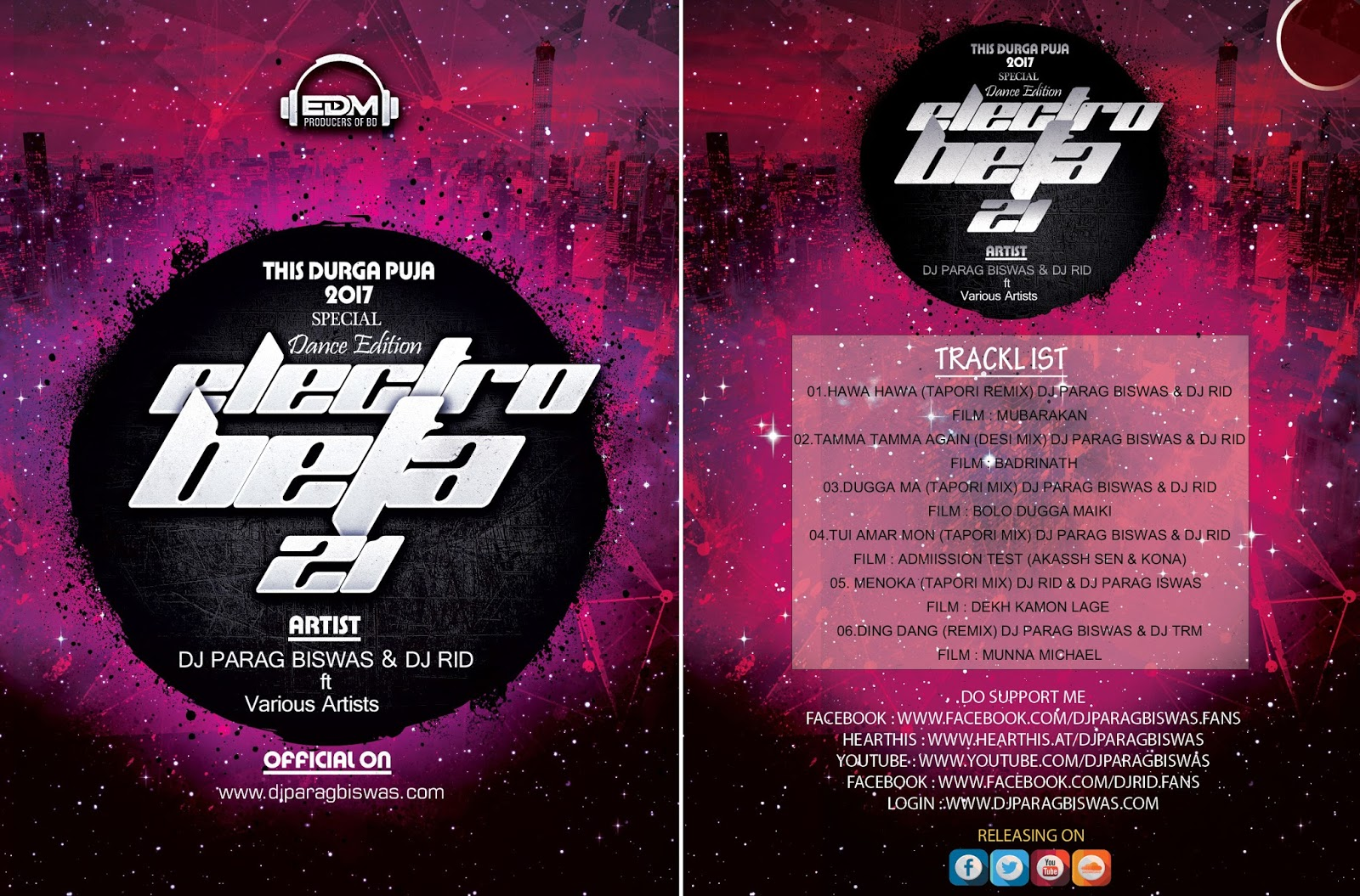 Electro Beat 21 (Durga Puja Special Dance Edition Album) DJ Parag