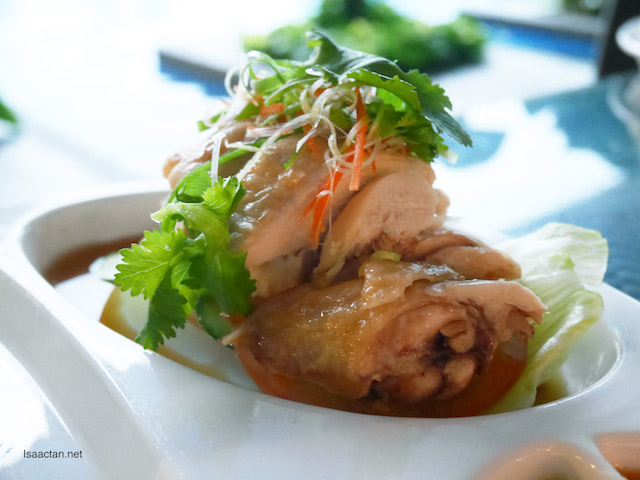 Yummy steamed 'white' chicken