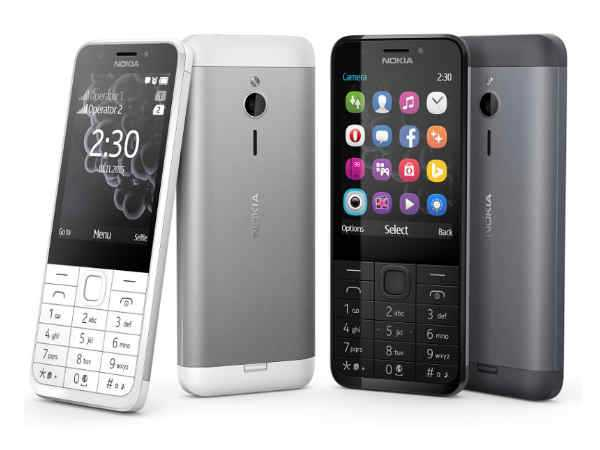 Nokia 230 Dual SIM selfie centric feature phone launched in India for Rs 3,949