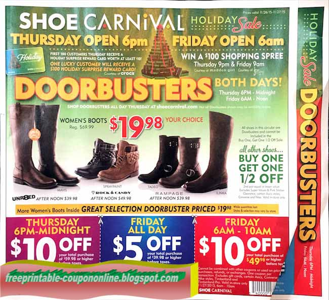 Black Friday Ad For Shoe Dept
