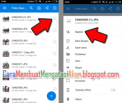 Cara Share File Di Dropbox Menggunakan Hp Dengan Aplikasi