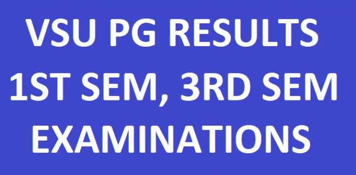 VSU PG 1st & 3rd Sem Revaluation Results November 2017 @ MANABADI