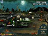 Come race with a few cryptoid ghouls in Halloween Graveyard Racing! #Halloween #HalloweenGames #RacingFlashGames