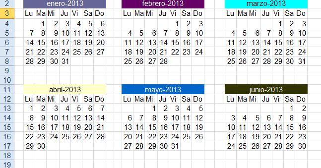 Calendario De Semanas.Obtener Numero De Semana Dentro De Un Mes Para Una Fecha Dada La