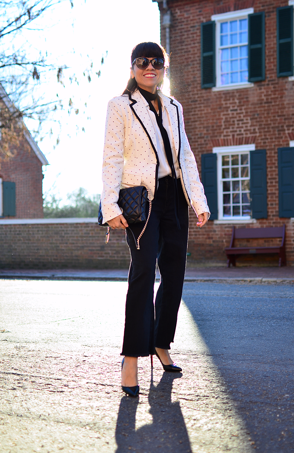 Cropped flare pants street style