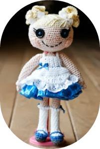 Amigurumi muñeca lalaloopsie