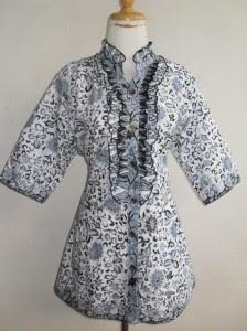 Batik Long Dress Wanita Untuk Dipakai Saat Idul Fitri 2017