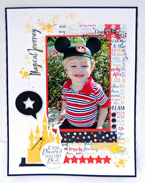 Magical Journey layout {Disney World Scrapbooking}