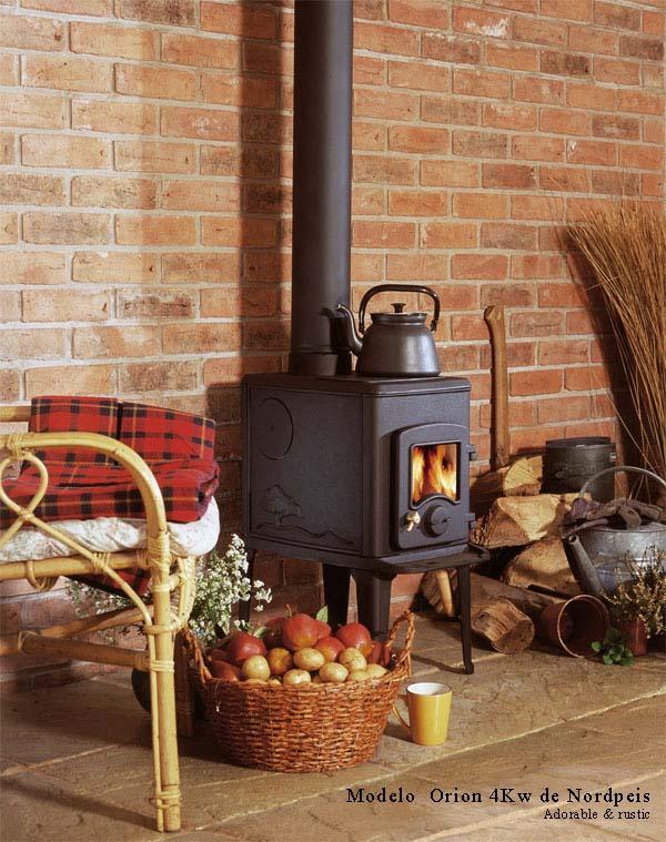 15 modelos de estufas a lena para estancias reducidas for Hogares a lena rusticos