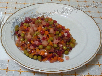 Healthy Cooking with Inna: Vinegret (Russian Vegetable Salad)