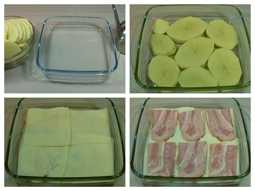 Pastel de patatas y bacon