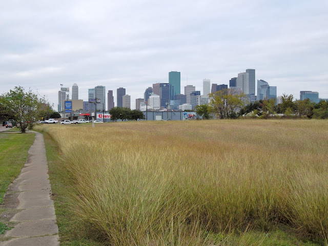 East Downtown greenfield awaiting development - Downtown Houston Skyline