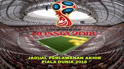 Jadual Perlawanan Akhir Piala Dunia 2018 (Final)