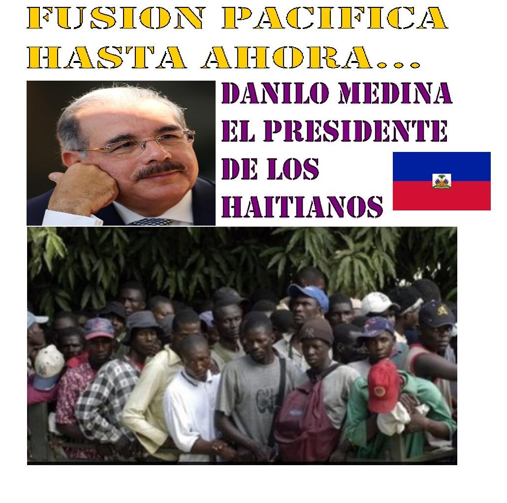 Image result for imagen de danilo medina y haitianos