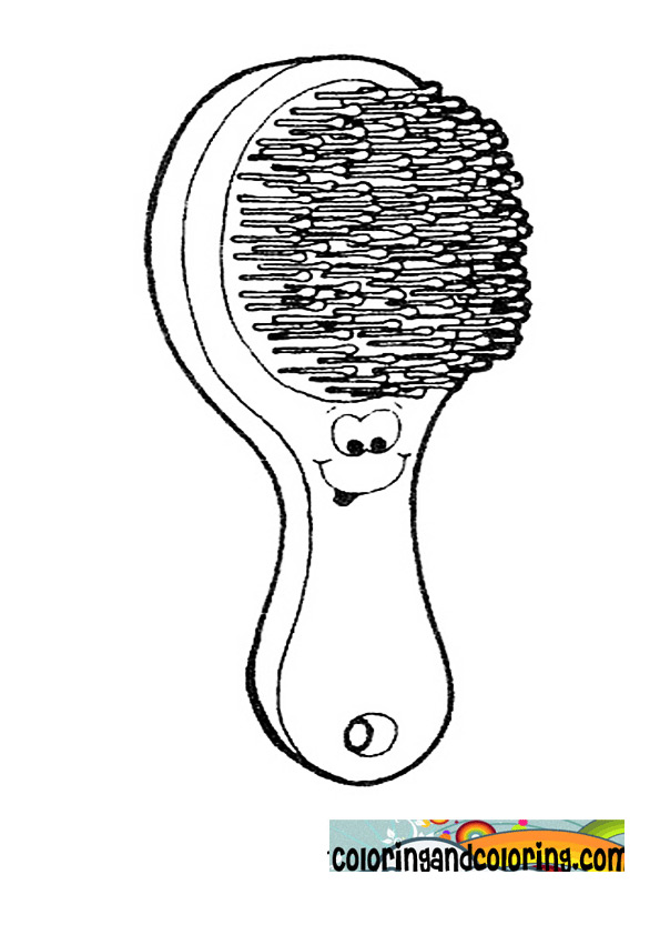 Free brush and comb coloring pages