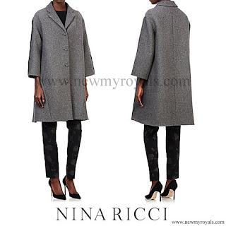 Queen Letizia wore NINA RICCI Tweed Swing Coat