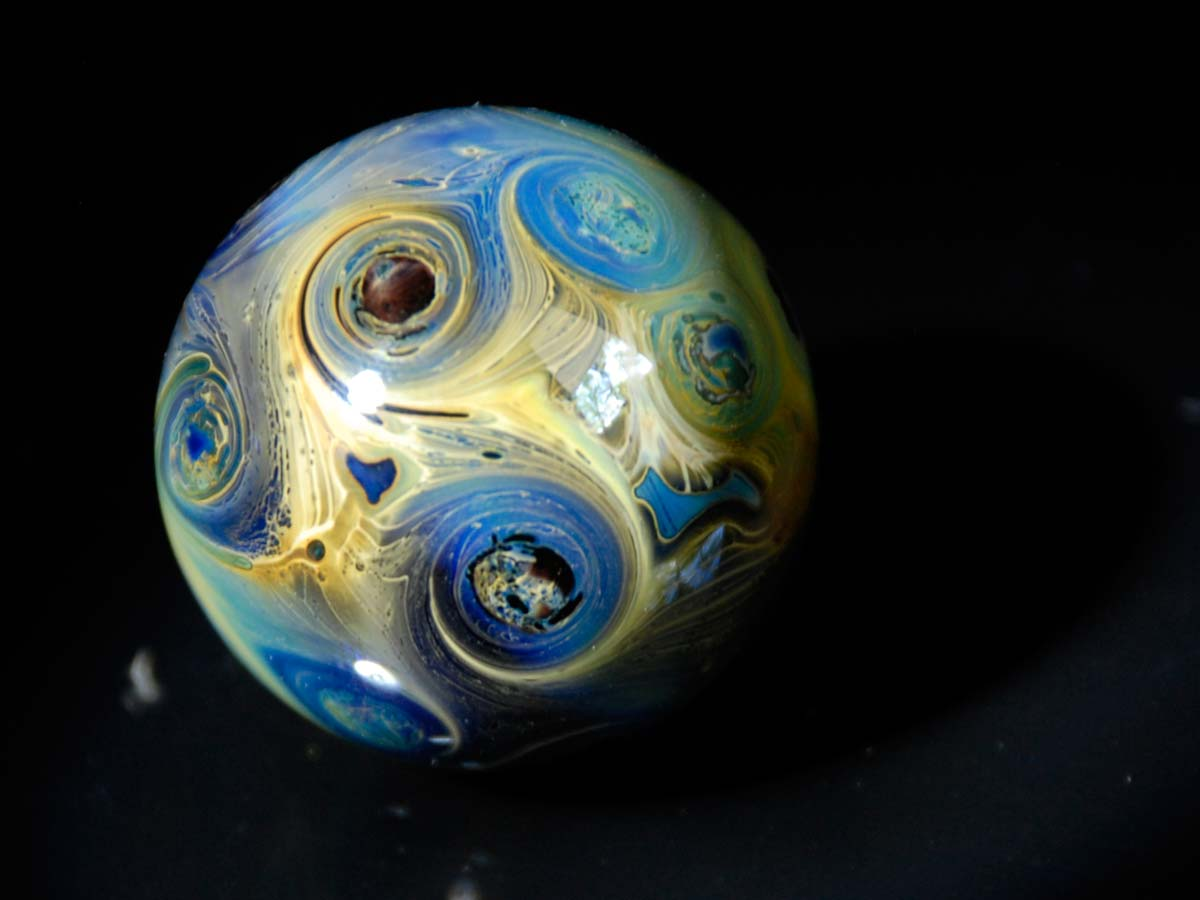Contemporary glass marble by Joe Holford