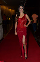 Actress Malvika Raaj in Red Leg Split Gorgeous Gown at Jayadev Audio Function 2017 ~  Exclusive 023.JPG