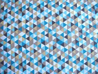 Látka retro trojuholníky mentol