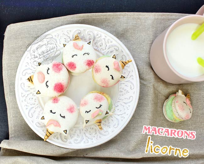 tuto macarons licorne