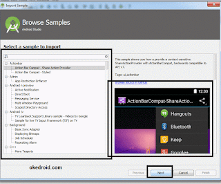 Browse Samples Android Studio