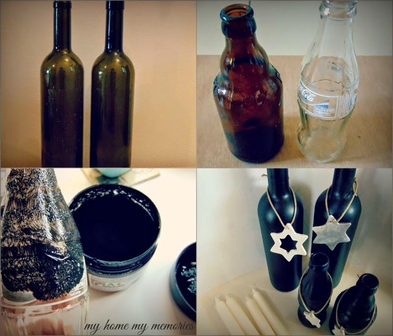 blackboard-paint-on-wine-bottles-with-clay-ornaments