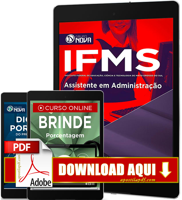 Apostila IFMS 2016 Assistente em Administração PDF Download