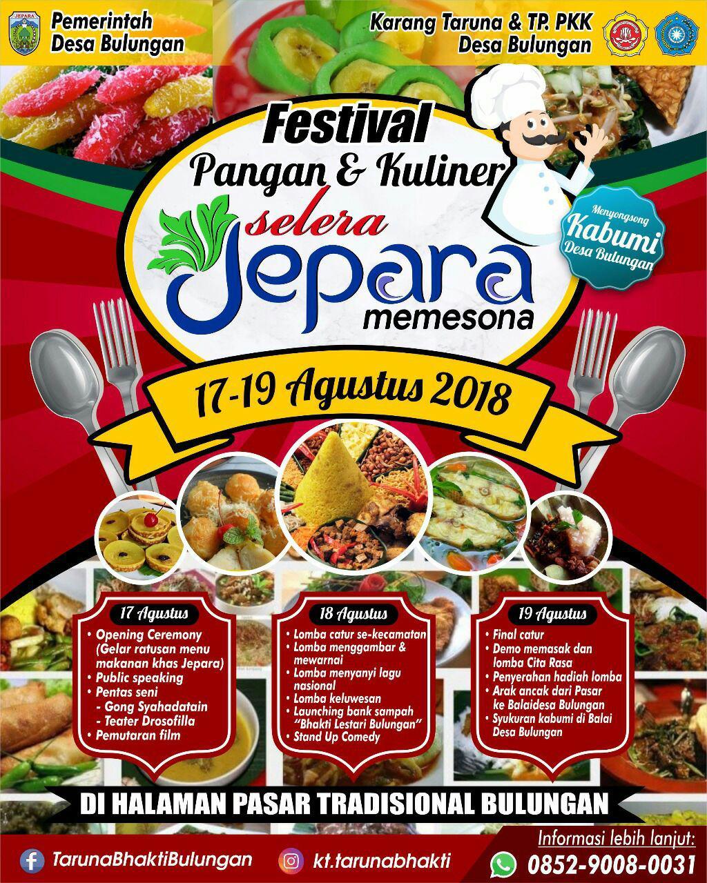 Festival Pangan Dan Kuliner Selera Jepara Dalam Sedekah Bumi Desa