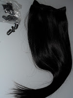 Hair extension clips & weft