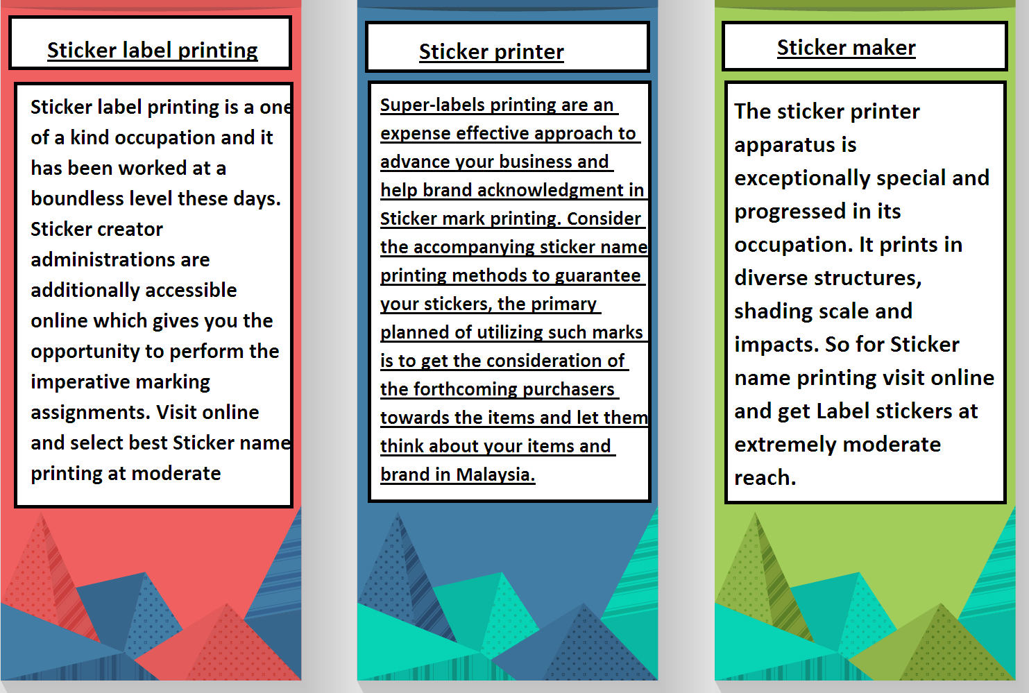 Stick your labels with a sticker maker