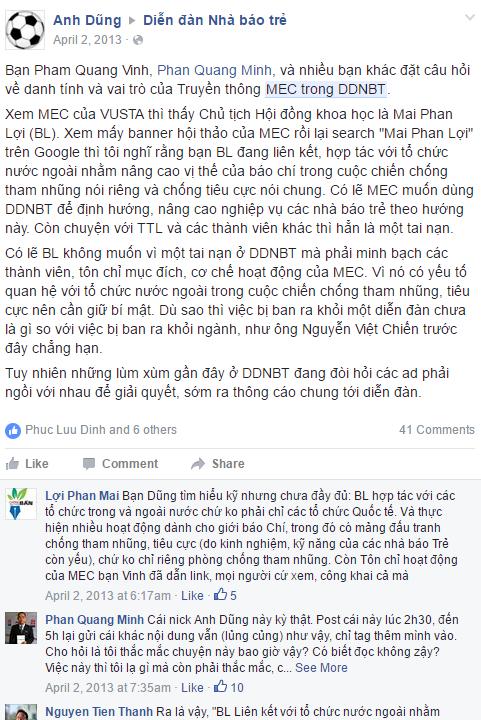 Vì sao nhà báo Mai Phan Lợi độc chiếm Diễn đàn Nhà báo trẻ?