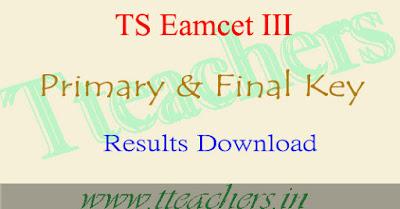 TSEamcet 3 Key