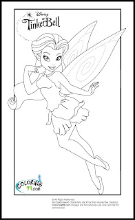 Tinkerbell and friends coloring pages team colors for Rosetta coloring pages