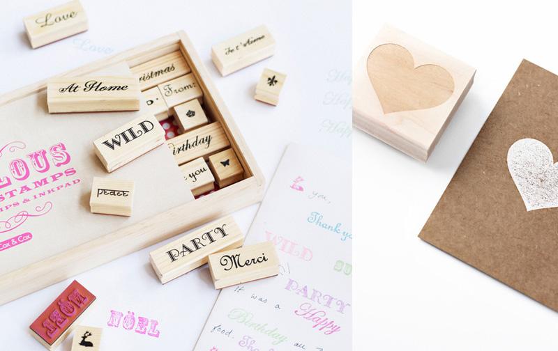Estampa nombres y frases con sellos