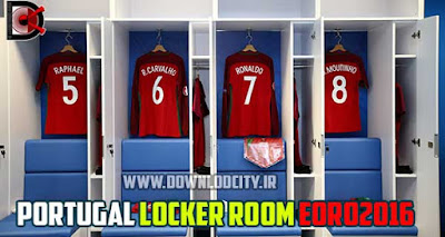 PES 2016 Portugal Locker Room in Euro 2016 By downlodcity