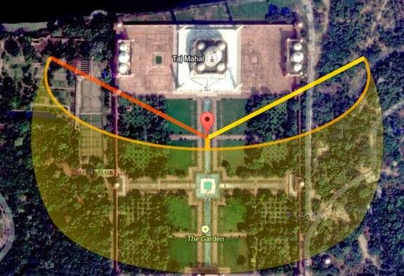 2 Taj Mahal alignments - Los jardines del Taj Majal y los alineamientos solares