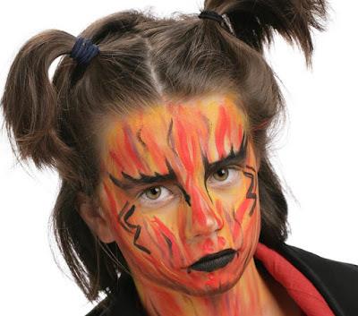 cómo hacer un maquillaje de diablo o demonio para niño