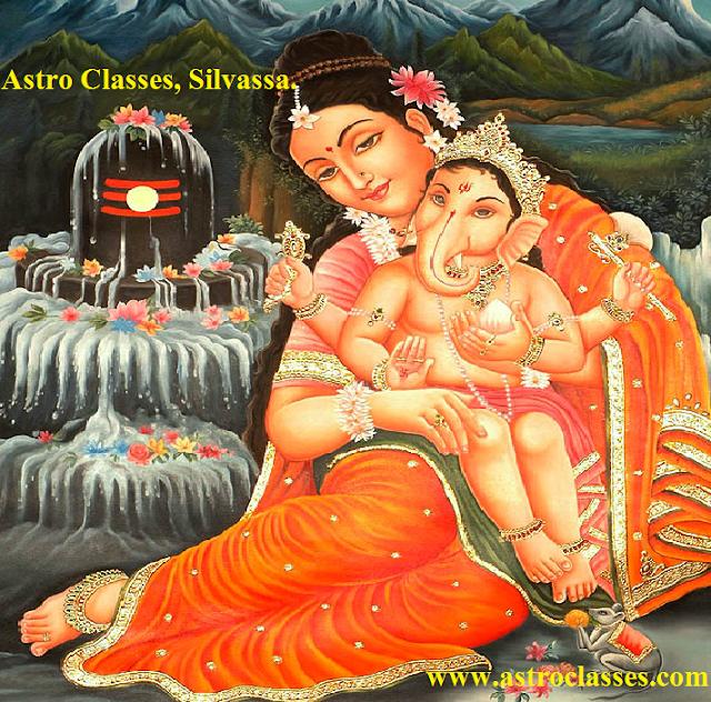 Mata Parvati Ganesha.